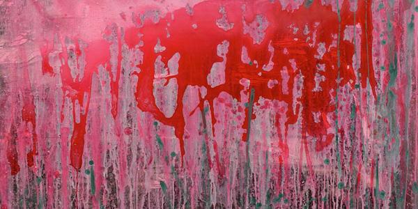 張耀煌,《繁花—歸宿》部份截圖,壓克力、油畫,130x97cm,2012