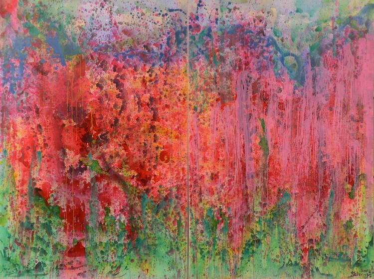 Blossom+Flourishing+-+The+Destination+繁花-歸宿+2013+acrylic+on+canvas+壓克力+畫布+diptych+雙聯畫+194x130cm+each+97x130cmweb.jpg