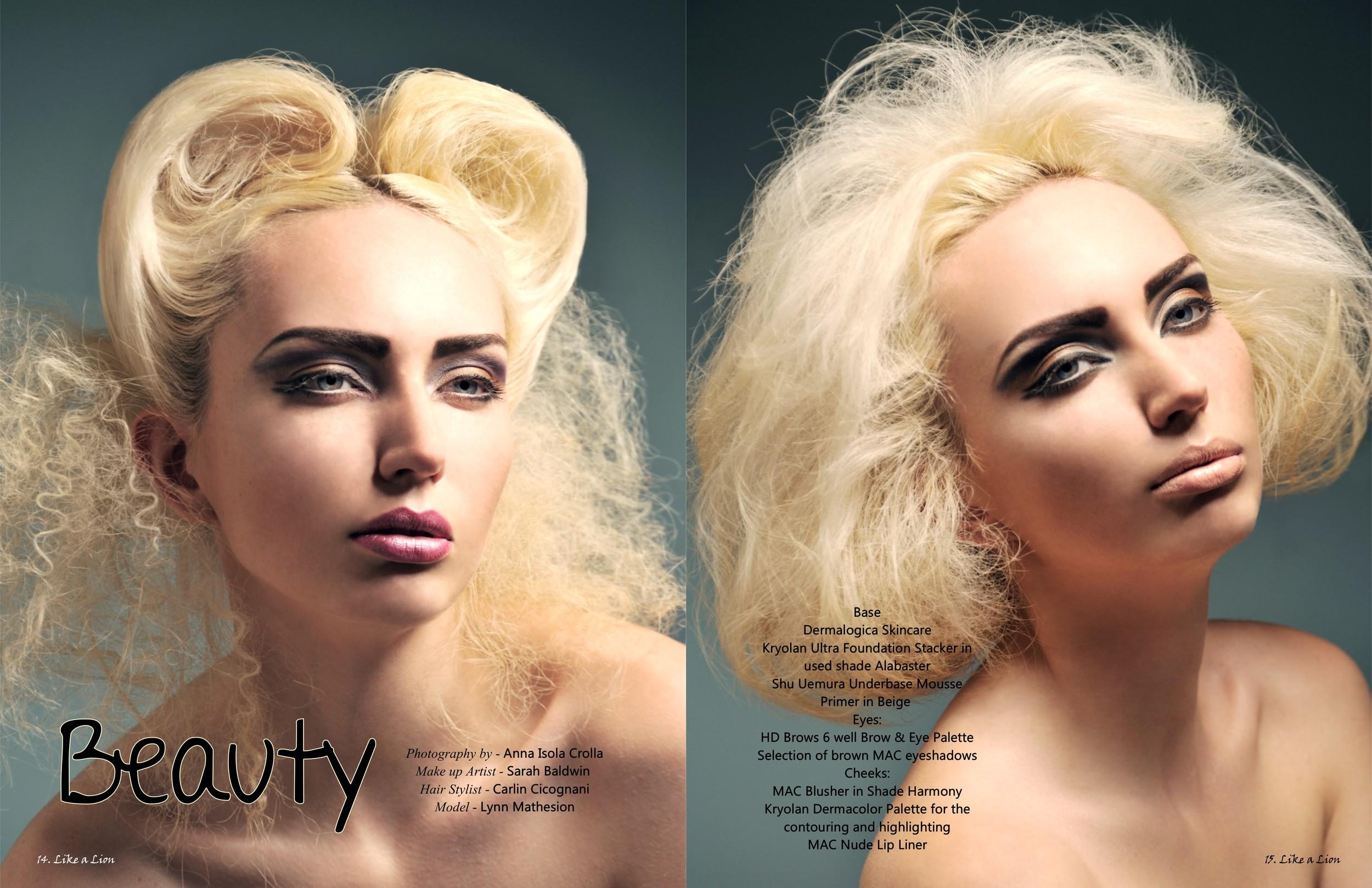 Published work for Like A Lion Magazine July 2013