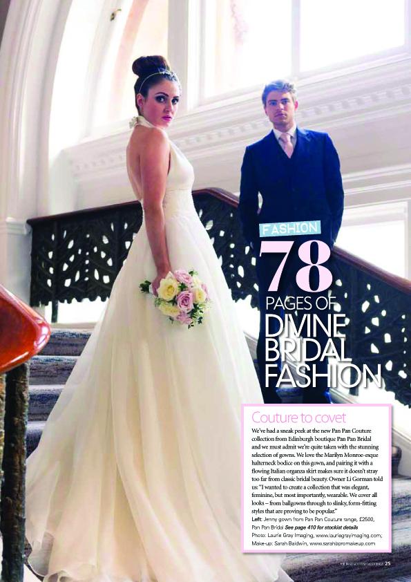 Bridal fashion feature in The Best Scottish Wedding magazine Autumn issue 2013