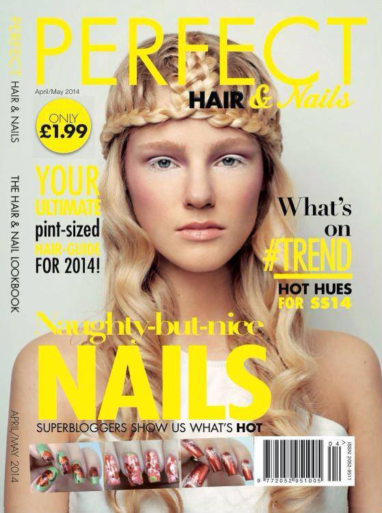 Perfect Hair and Nail Magazine May 2014 Front Cover