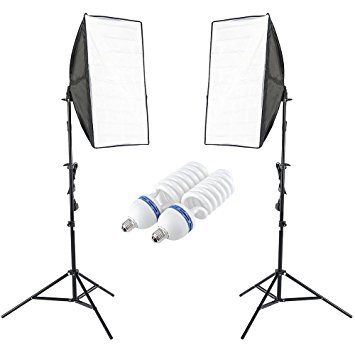 X2 Singular Daylight Bulb Soft Boxes