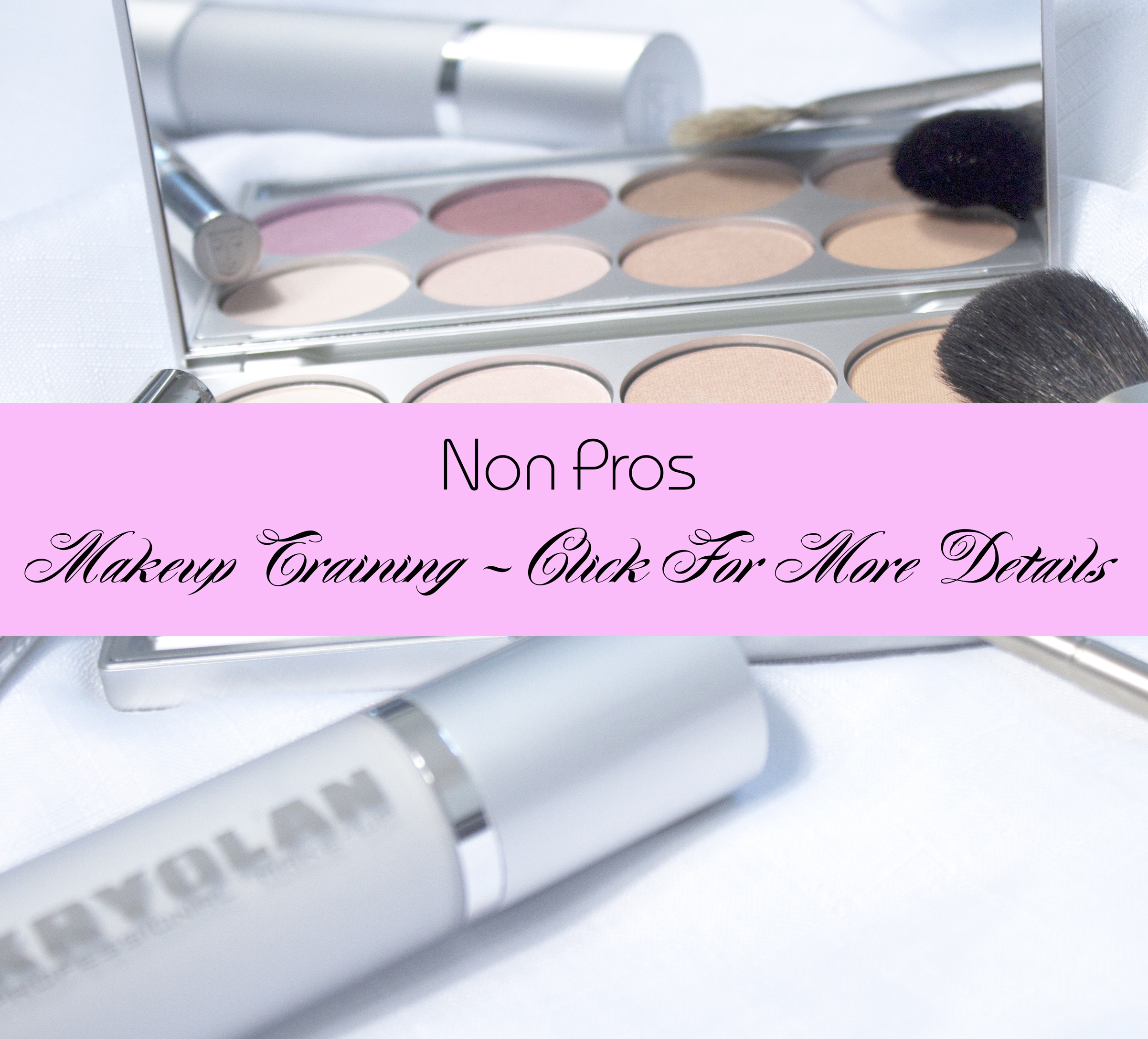 - My professional makeup training sessions cater to clients individual needs. Each session with me involves a make over with step by step guidance including a full breakdown of the look and all products used. Your look and products are all noted down on a professional Pro Chart which you will keep.
