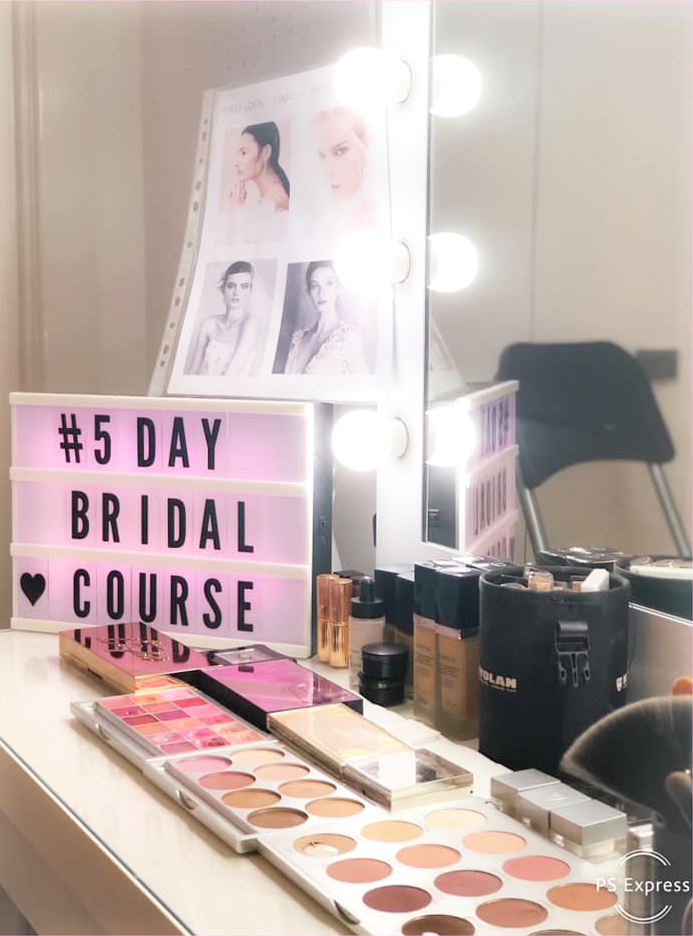 My 5 day bridal course, day 1 set up