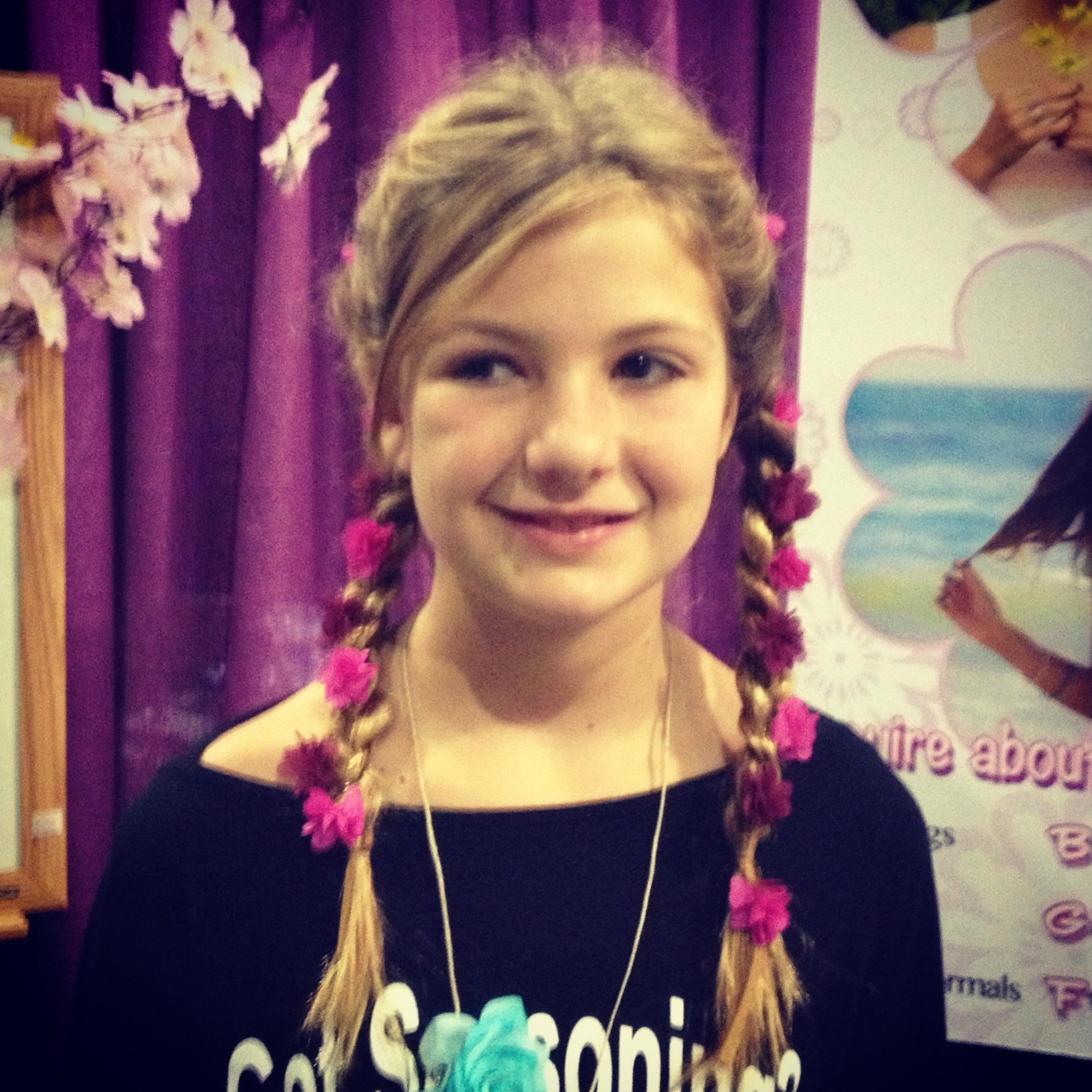 Two braids are funner than one on our adorable fan!