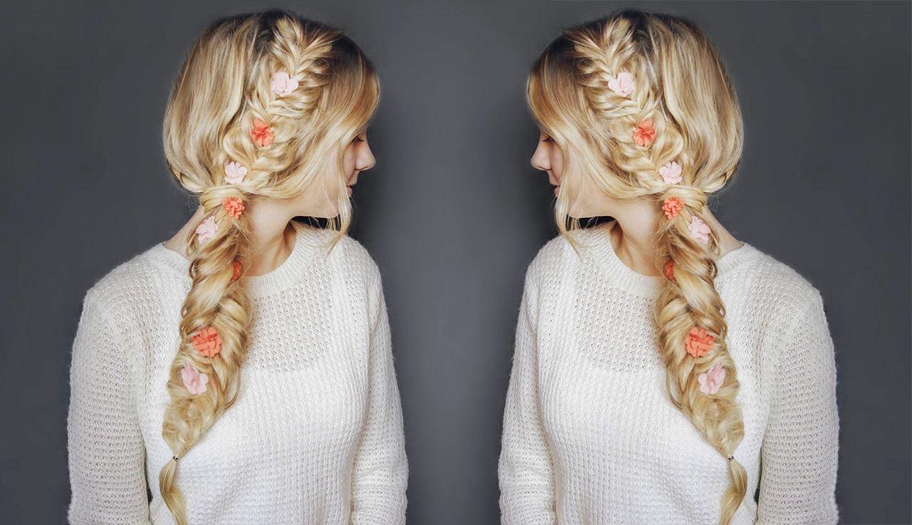 Flower Child Hair Double Fishtail Braid