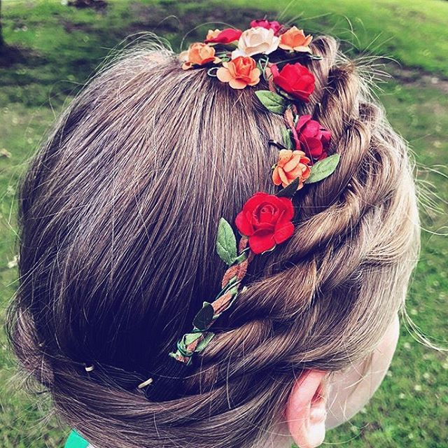 Rope Twist Braid using our @flower_child_hair Rosette Autumn Flower Crown. Styled by @norak72 😍 We love seeing what our clients create with our accessories! Shop flowerchildhair.com - Link in profile. #flowerchildhair #flowerchild #flowercrown #hair #hairstyle #hairaccessory #style #braid #ropebraid #twistbraid #hairaccessory #floweraccessory