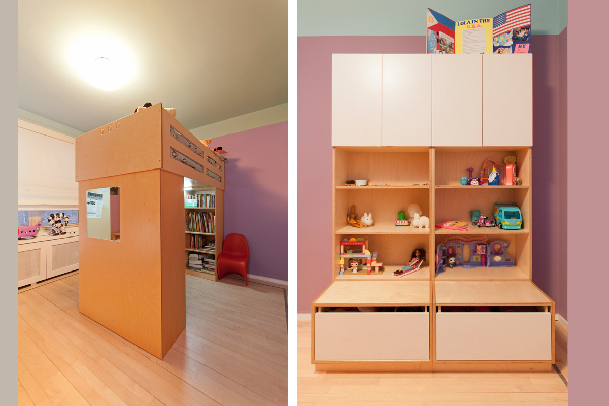casa kids loft bed and storage space