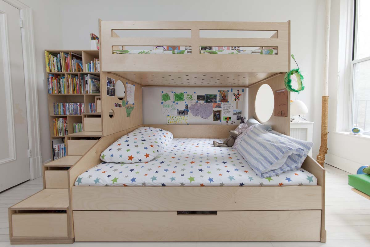 casa kids twin bed over full bunk