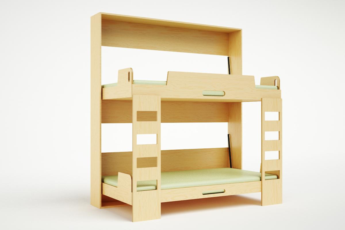 Casa kids double decker murphy bed