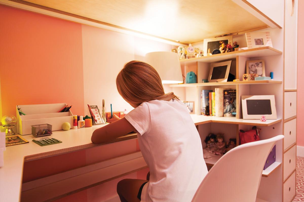 casa kids desk and shelves