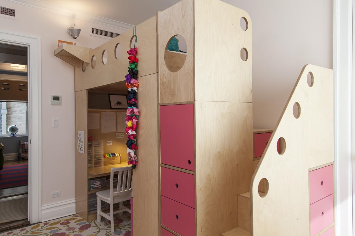 casa kids loft bed with storage drawers
