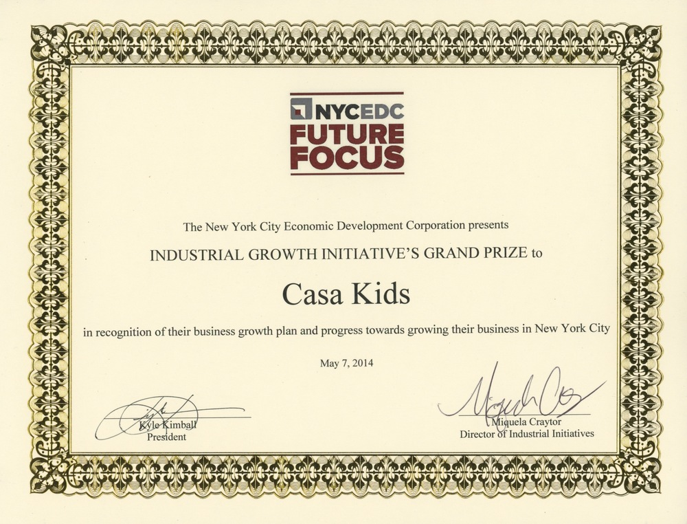 Casa Kids - Business Plan Award