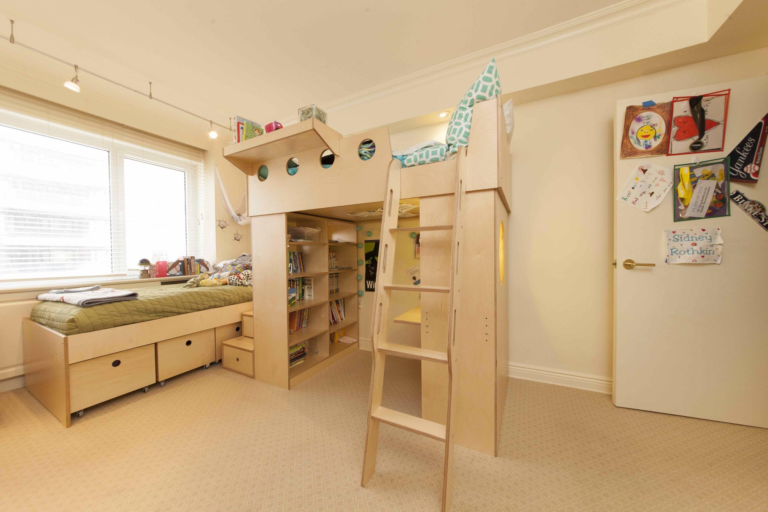 casa kids-loft bed-twin bed