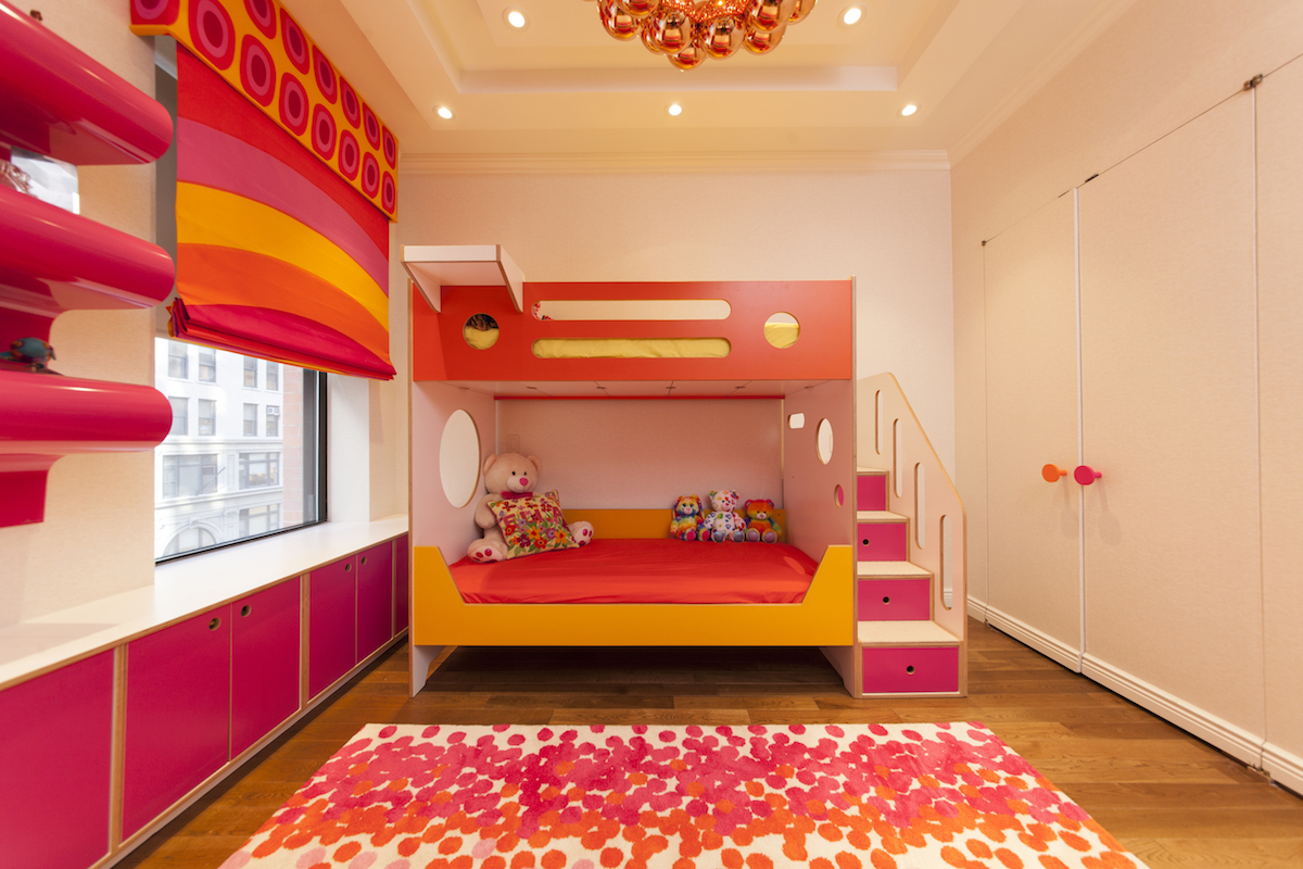 custom bunk bed with staircase