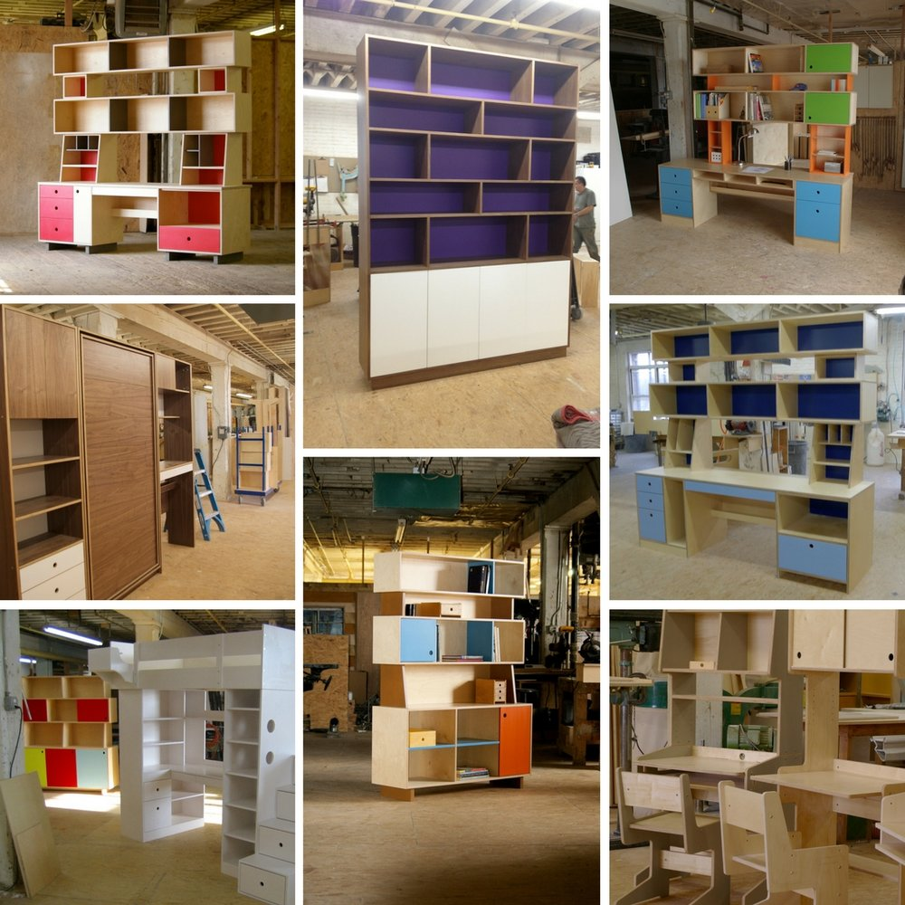 Custom plywood cabinets