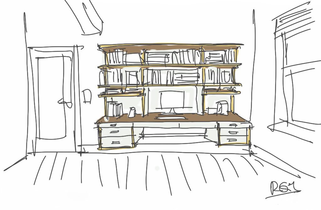 Molly's desk in white and walnut.jpg