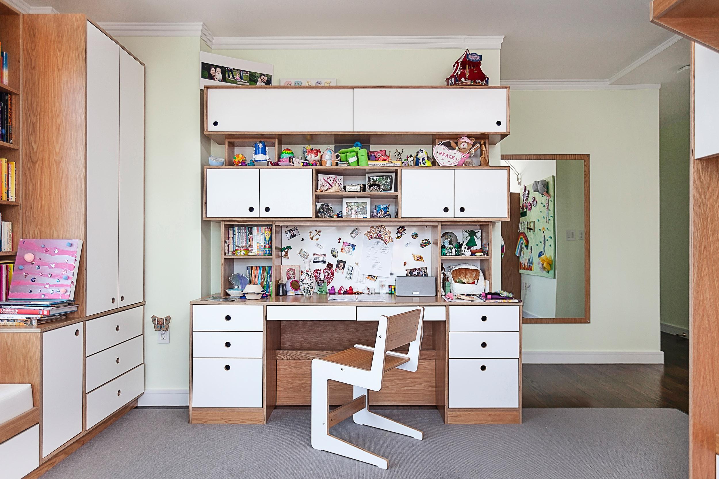 Oak and White Dumbo Desk