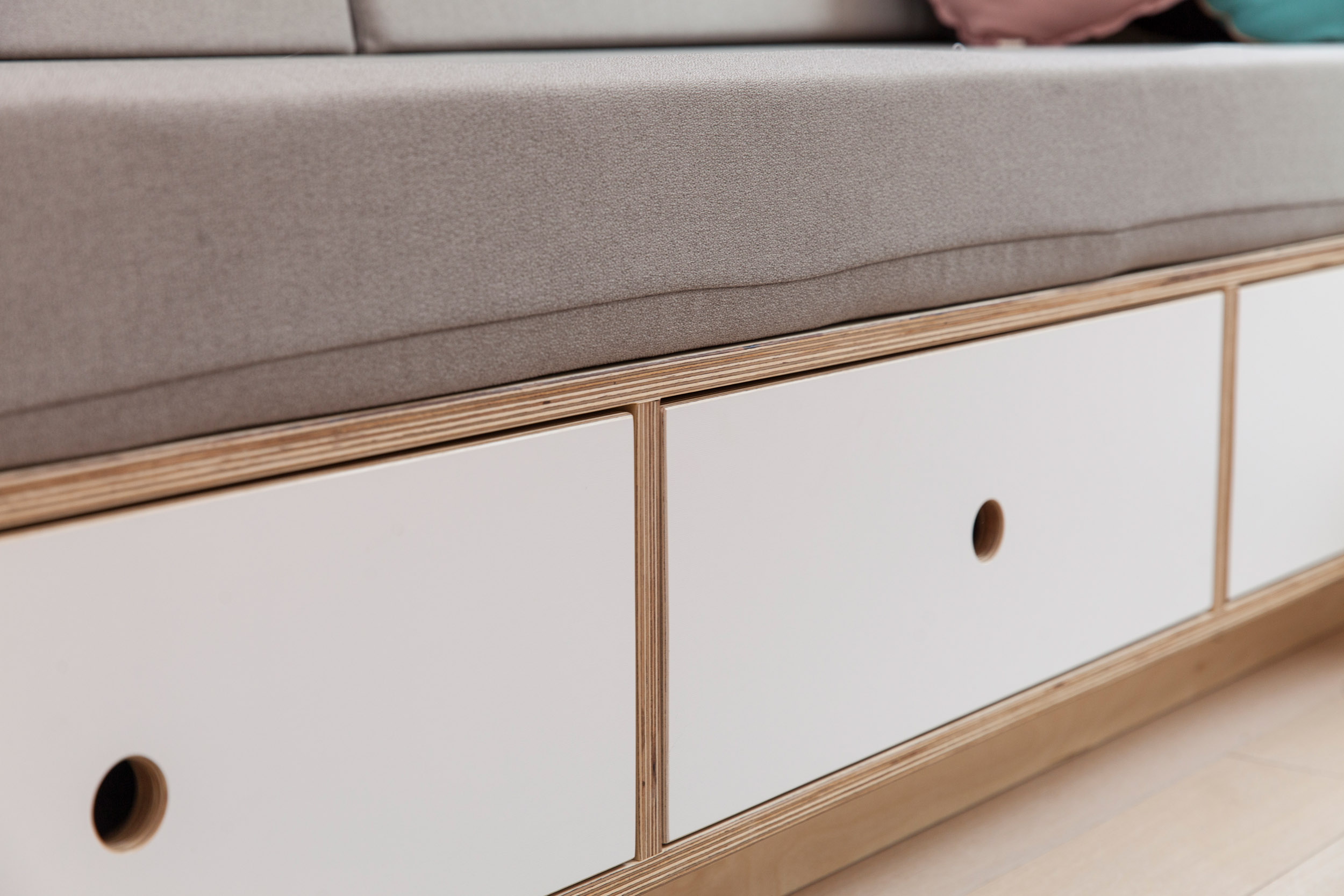 casa kids bench storage drawers