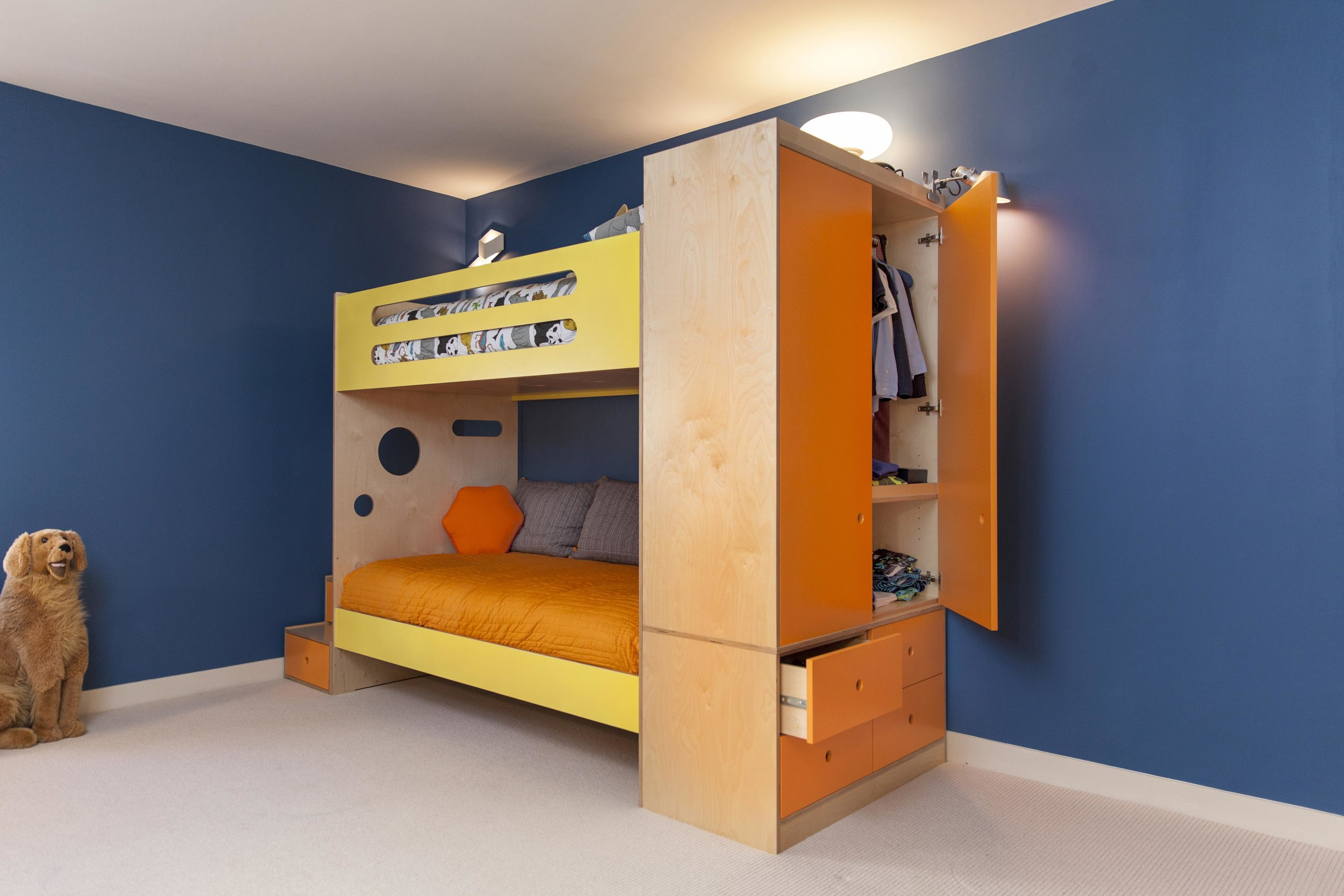 An attached armoire on our Marino Bunk bed