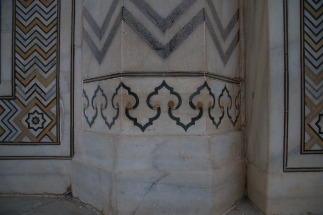 The original marble work from the Taj Mahal which inspired the pen design.