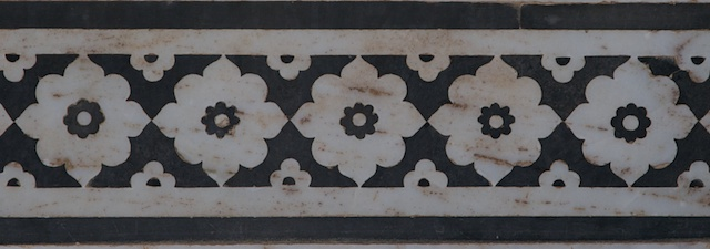 Original marble work from the Amber Fort in Jaipur which inspired the pen design.