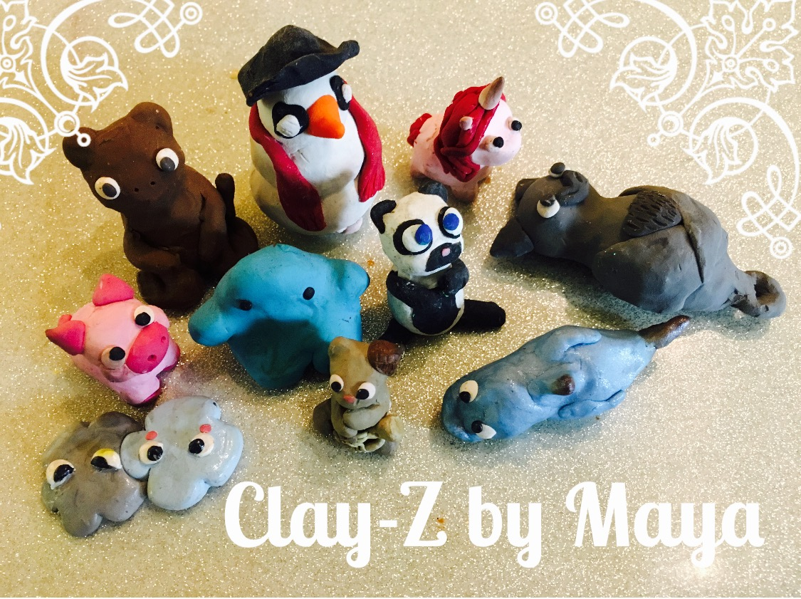 Maya makes great little clay sculptures that she calls Clay-Z. You can buy them at CRAFTIDOTE in early December. This year it will be on December 3rd in front of ANTIDOTE. Come and get them! They are great.