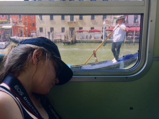 asleep in Venice