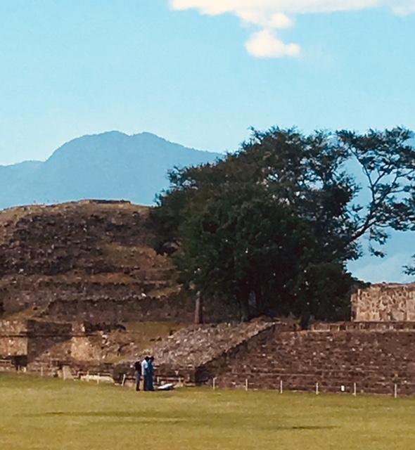 Monte Alban, the historic site near Oaxaca.