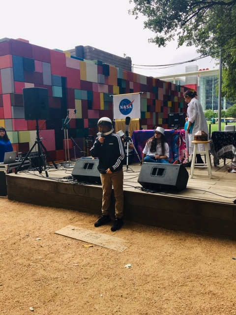 "Performance at DISCOVERY GREEN May 2019, ""ASTRONAUT TALK"""
