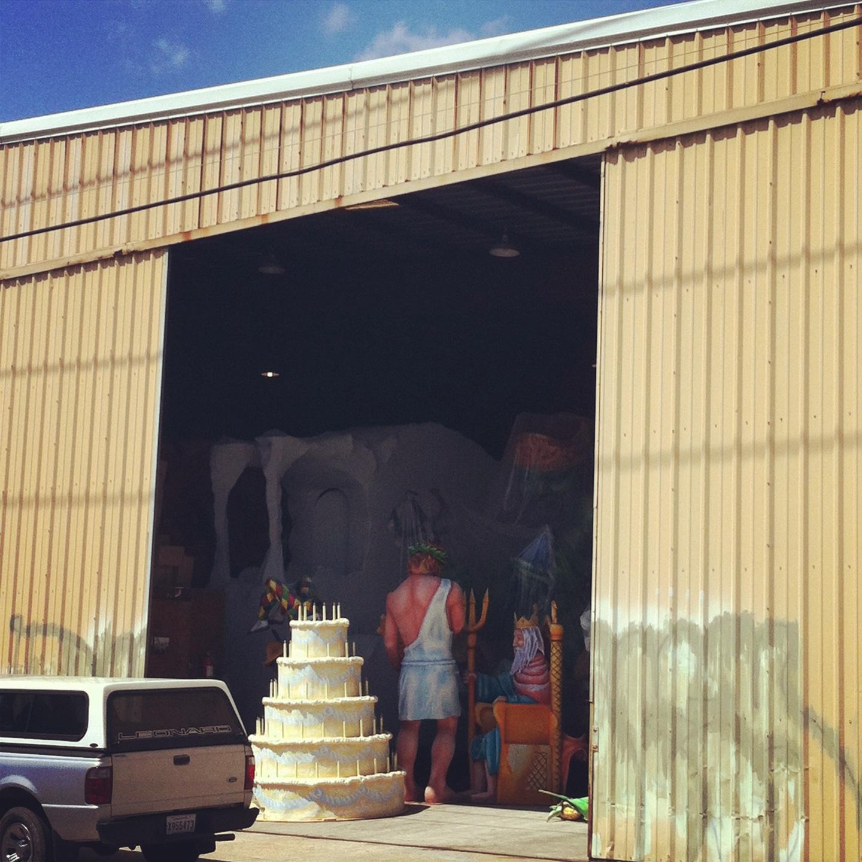 Non-descript warehouse in New Orleans, Louisiana