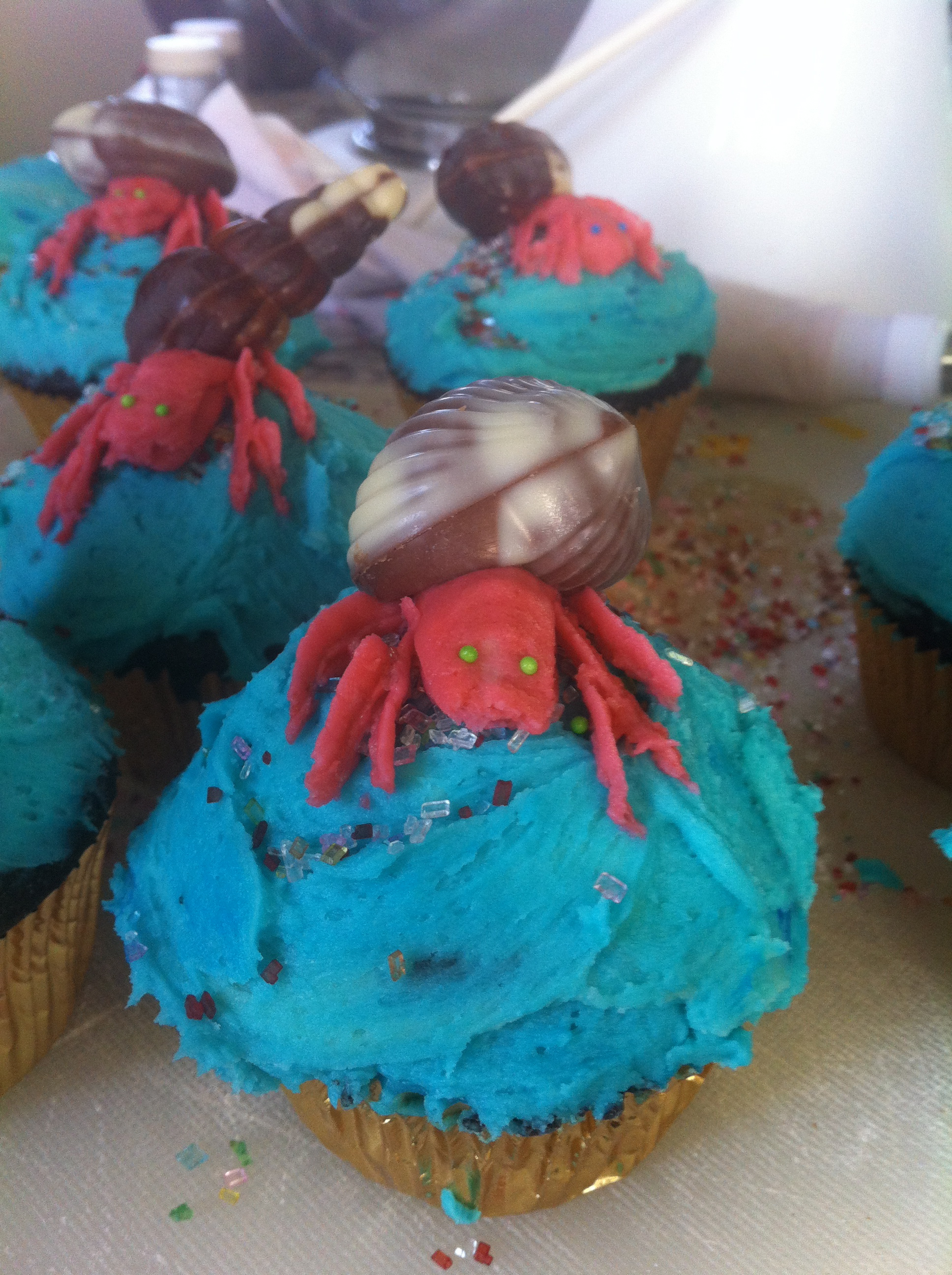 Hermit Crab Cupcakes! Oh My!