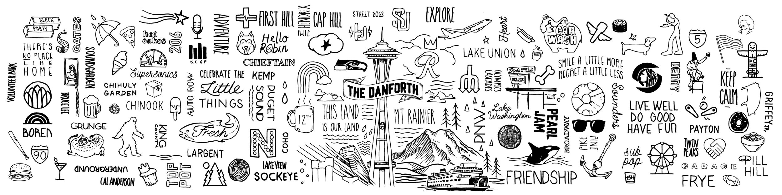 Mural Design for the Danforth apartments - Seattle WA
