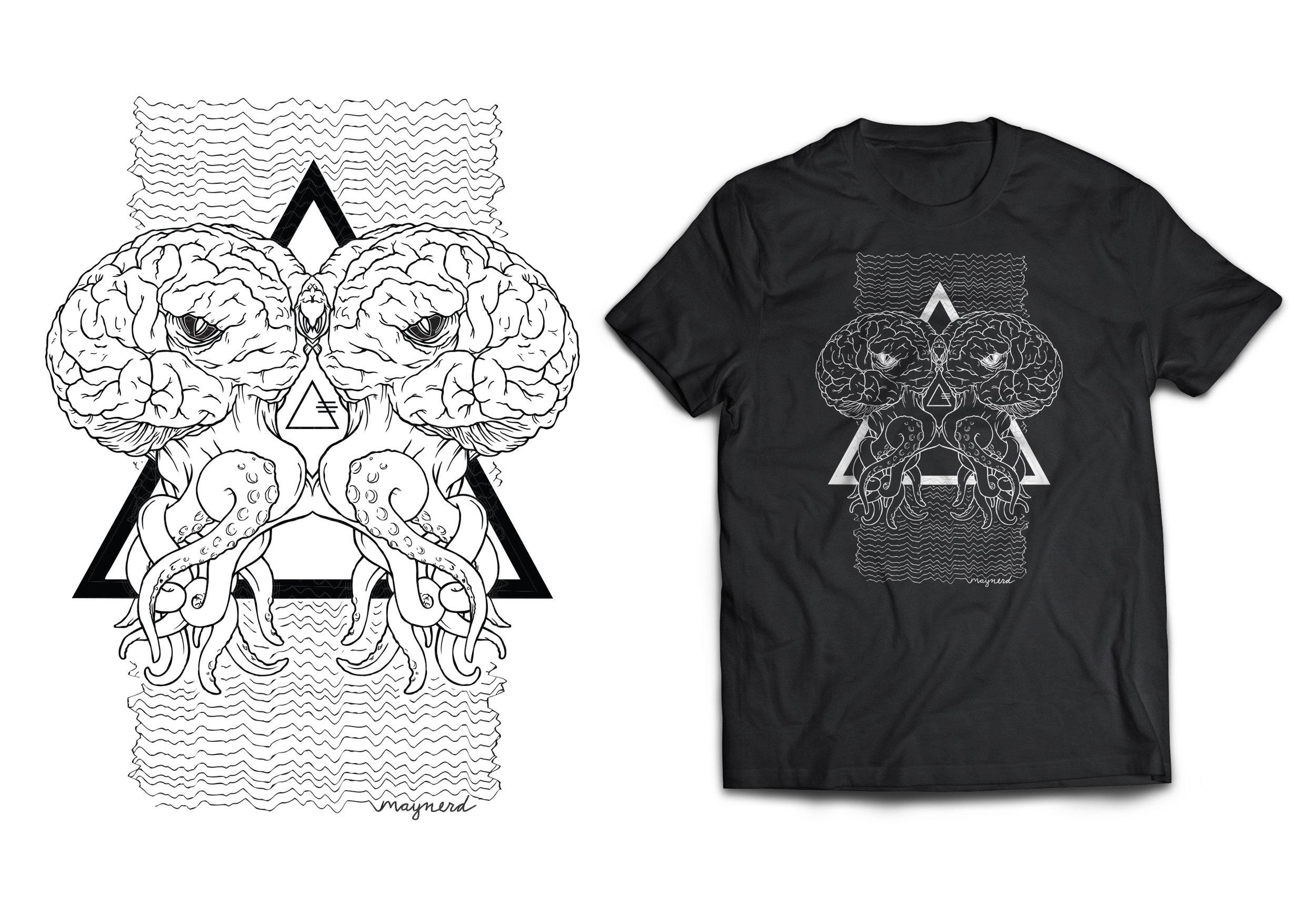 Binary Cephalopod T-Shirt Design