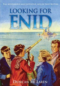 """LOOKING FOR ENID  Biography, 336 pages Portobello Books Ltd, 1 June 2008  You are warmly invited to accompany Duncan on an adventure that will  investigate what made Enid Blyton Enid, and endeavour to reach the source of her  torrent of stories, those that came when she was """"letting her mind go  free."""""""
