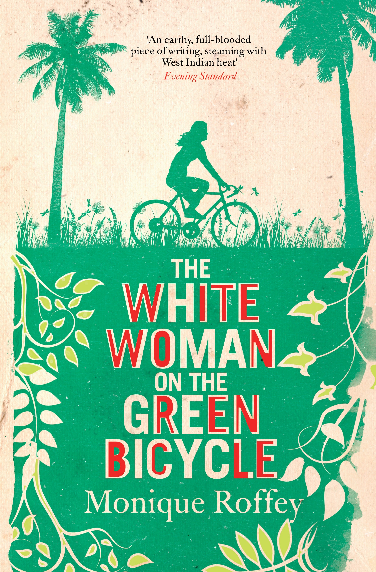THE WHITE WOMAN ON THE GREEN BICYCLE  Literary fiction, 439 pages Simon & Schuster - April 2010  When George and Sabine Harwood arrive in Trinidad from England, George is immediately seduced by the beguiling island, while Sabine feels isolated. As they adapt, their marriage endures for better or worse, until George discovers a cache of letters Sabine had hidden from him, unleashing a devastating series of secrets.