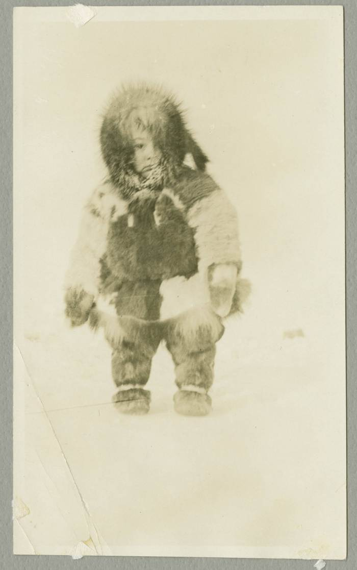 Young child in furs (Stefansson Expedition 1913-16),