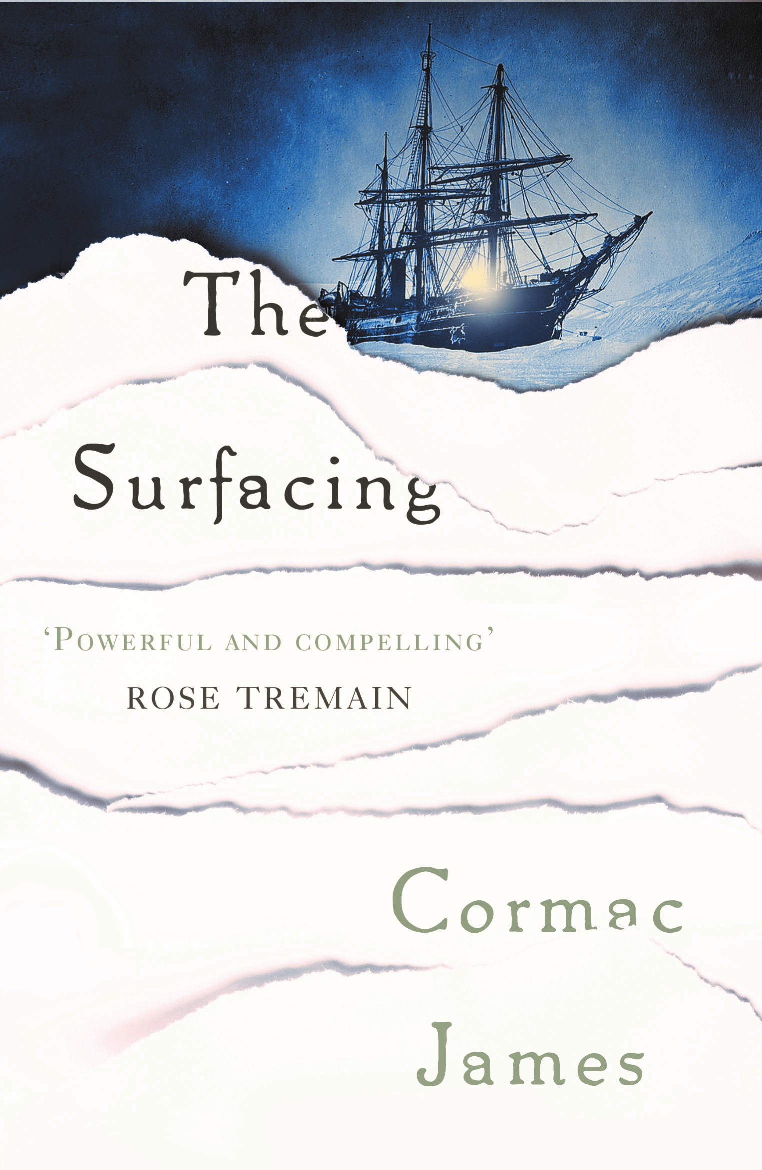 THE SURFACING  Literary Fiction, 384 pages Sandstone Press, September 2014  Morgan is second-in-command on a ship searching for Franklin's lost expedition in the 1850s – when he realises there is a pregnant stowaway on board, he is the father and the Impetus becomes trapped in the ice.