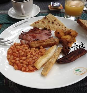 Breakfast, avec pied