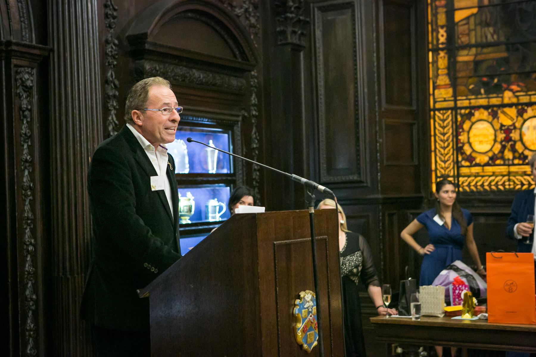 Peter James speaking