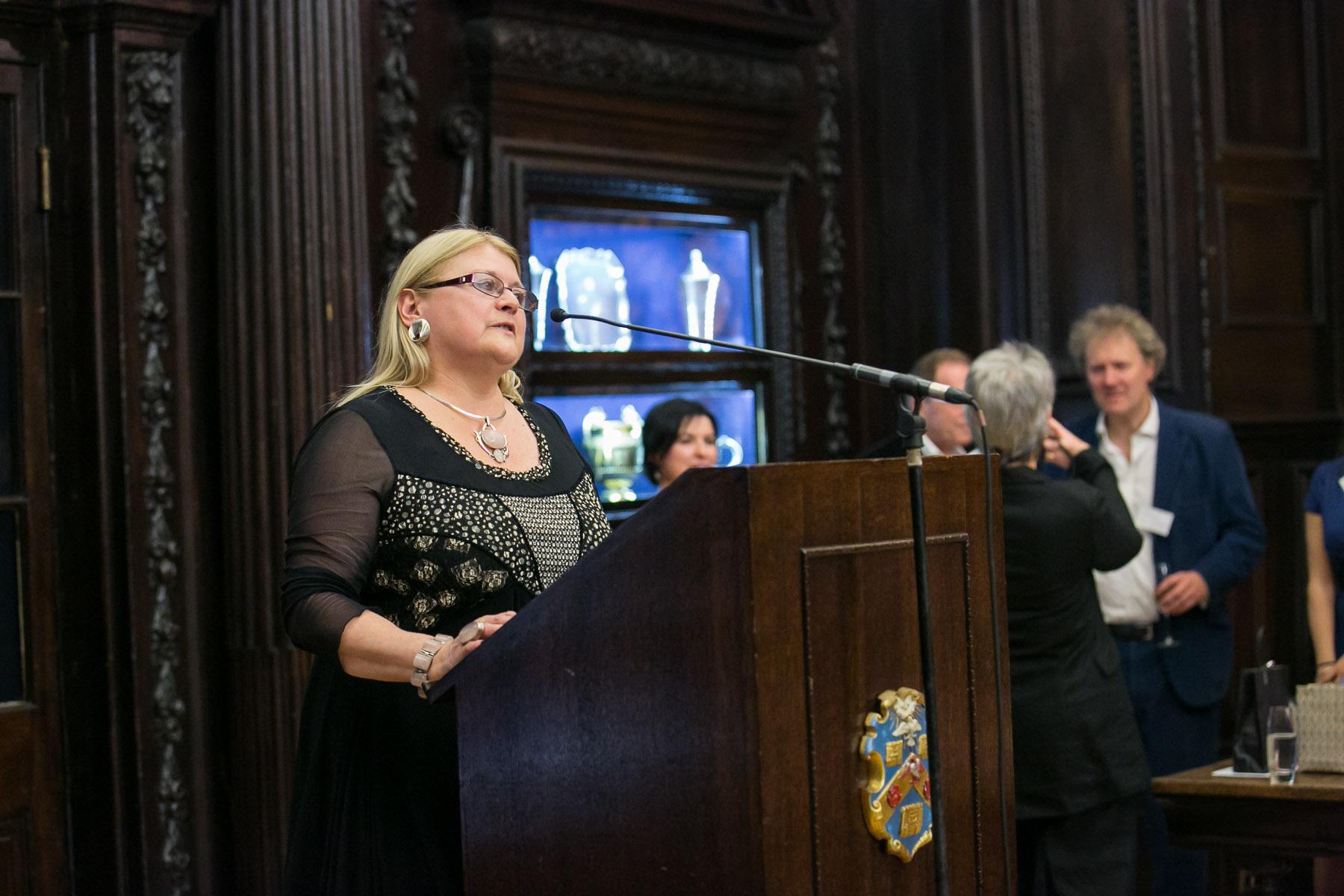 Carole Blake, speaking
