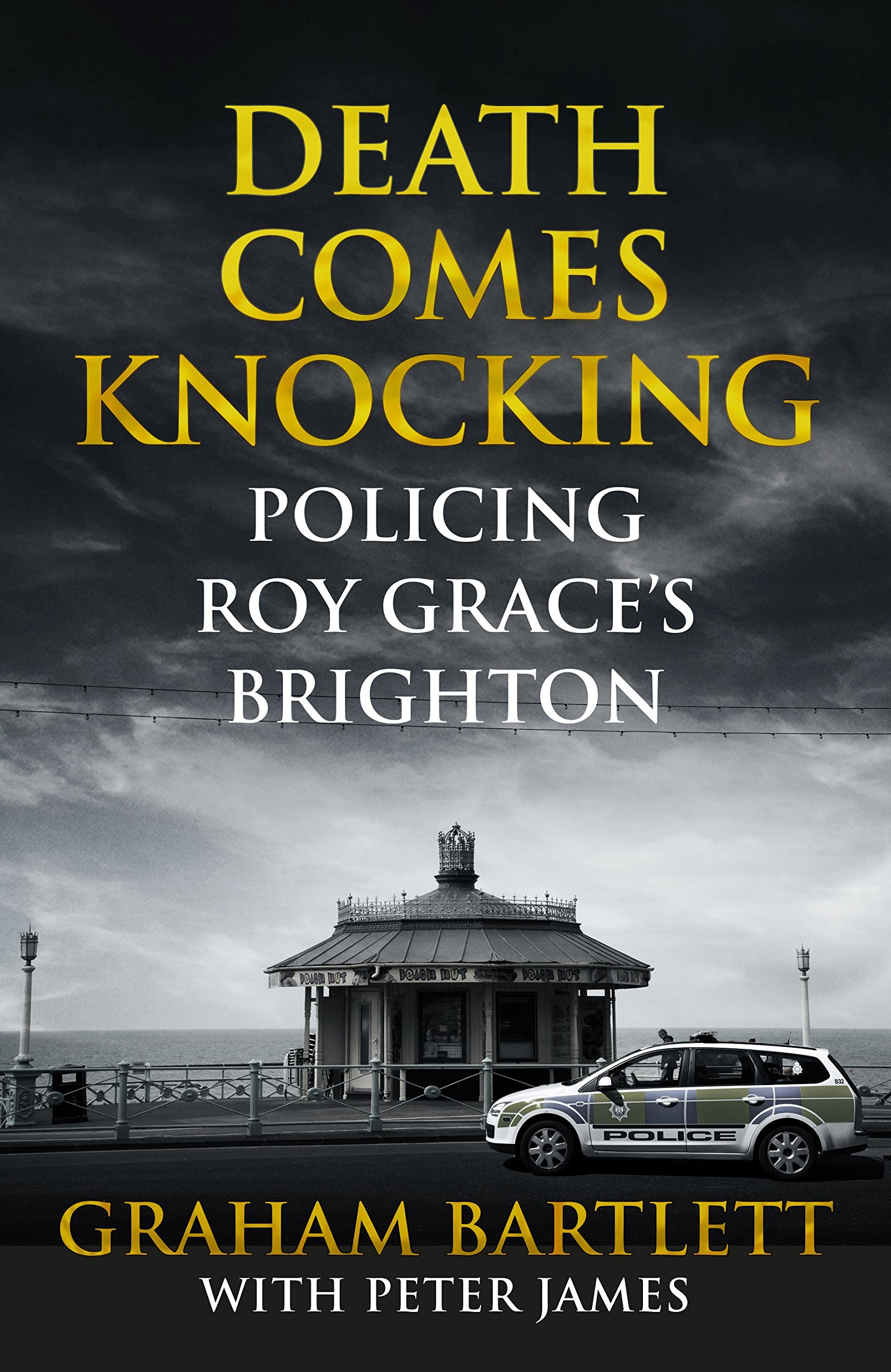 DEATH COMES KNOCKING: Policing Roy Grace's Brighton  Non-fiction, 333 pages Pan Macmillan, 2016  Peter James' bestselling Roy Grace series of crime novels is made all the more compelling by his in-depth research into the work of Brighton and Hove police, and he sets them in a world every bit as gritty as the real thing. Now, he and Graham Bartlett, a long-serving detective and Commander of the city for four years, have written a gripping account of Brighton's most challenging modern cases, many of which Bartlett helped solve.