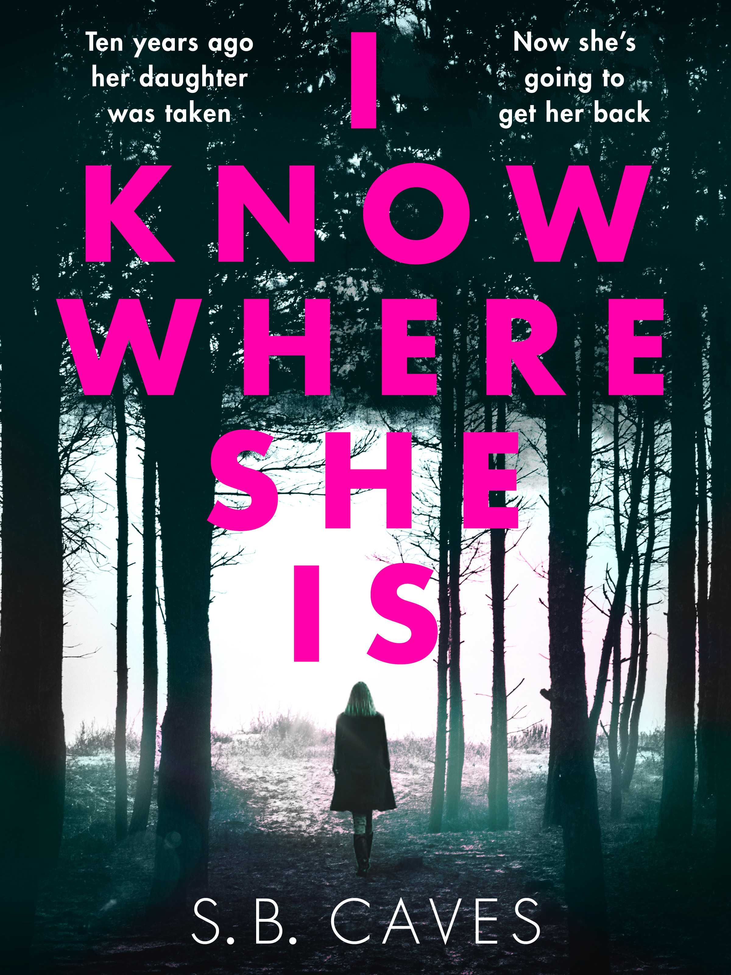 I KNOW WHERE SHE IS  Thriller, 257 pages Canelo, August 2017  On the tenth anniversary of her daughter  Autumn' s abduction, Francine  receives an anonymous note containing just five words: I KNOW WHERE SHE IS   When a young woman approaches her the next day claiming to have sent the letter Francine wants to dismiss it as a cruel, twisted joke.  But the stranger knows things that only Autumn would know.  It soon becomes clear that Francine must go to dark places in order to learn the truth about her child's kidnapping.  She will discover that danger comes from unexpected sources. She will do things she never imagined herself capable of.   But will Francine get her daughter back – or is it too late?