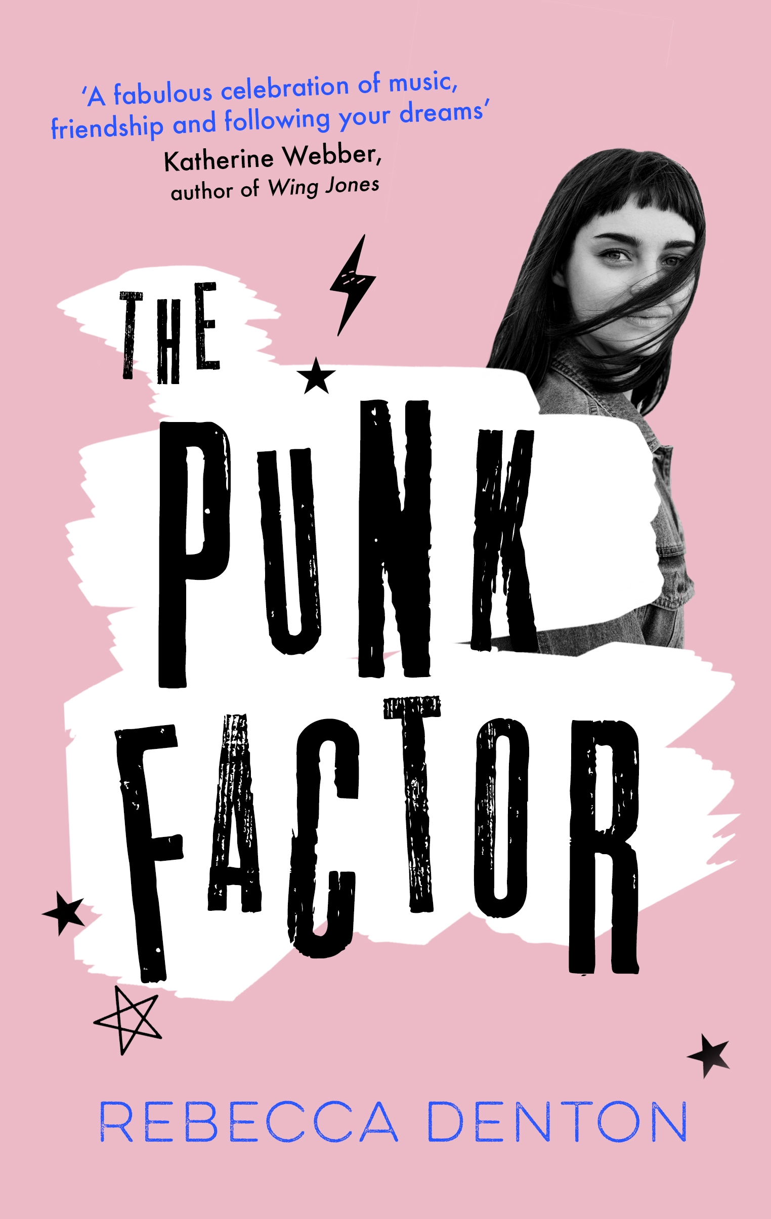 THE PUNK FACTOR  Contemporary YA, 352 pages Atom, Nov 2018  Seventeen-year-old Frankie is obsessed with what everyone else is thinking. She can keep up with the chat - from feminism to tattoos - but when it comes to her own ideas, it's not so easy to hide her lack of confidence. But there is one personal obsession she can't deny - her art student drop-out ex boyfriend Doc.  With the help of her best friend, Haruna, Frankie forms a punk rock girl band to attract his attention. She's got it all sorted; the Instagram page is live, the handmade posters are everywhere, and the band even has a first gig lined up (even if they are playing to a handful of retired bingo fans). But in her efforts to make the band a success and get Doc to notice her, Frankie starts to care less about what Doc thinks and more about how much she loves making very  loud music. She finally feels a glimpse of who she can be, independent of anyone else. Then one day, Doc decides he is going to win her back . . .  Punk is nothing without the freedom to be exactly who you want. But what if you're not sure who that is yet? Can you make your own noise when everyone else seems so much louder than you?