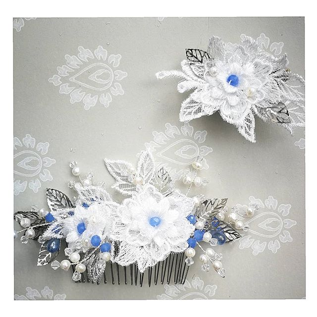 💮 A bridal hair comb for a Norfolk Bride & her daughter celebrating in a pale Blue dress, lace, mother of pearl, Swarovski crystals and blue crystal to match the colour of her dress!💮 . . . . #norfolkbride #norfolkwedding #bridalcouture #bridesmaids #photooftheday #accessories #bespoke #commission #alternativebride #bohemian #vintagelook #bohobride #hairpiece #tribenorfolk #handmadejewelry #haircrown #haircombs #norfolkbride #dressingup #occaisionwear #fashion #millinery #millinerydesign #lovesparkle #headband #alternativewedding #fashionflair #fascinator #hat #photoshoot #crystalhairpiece