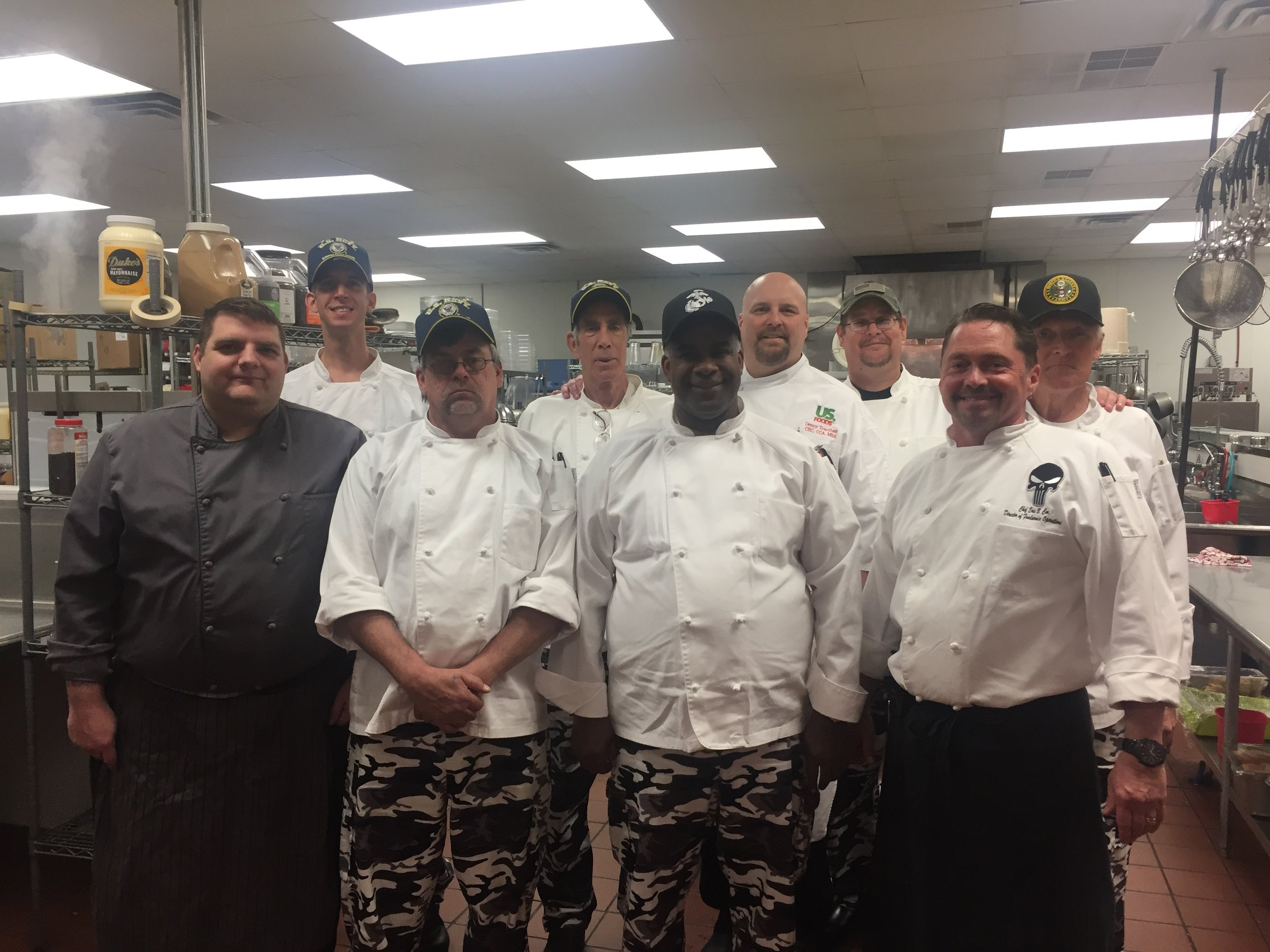 Group photo with Chef Eric Cox (bottom right), ABCCM's director of foodservice operations.