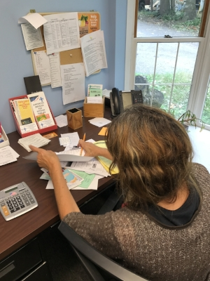 Wren spent most of Thursday and Friday filling out paperwork and making phone calls in her family's search for affordable housing.