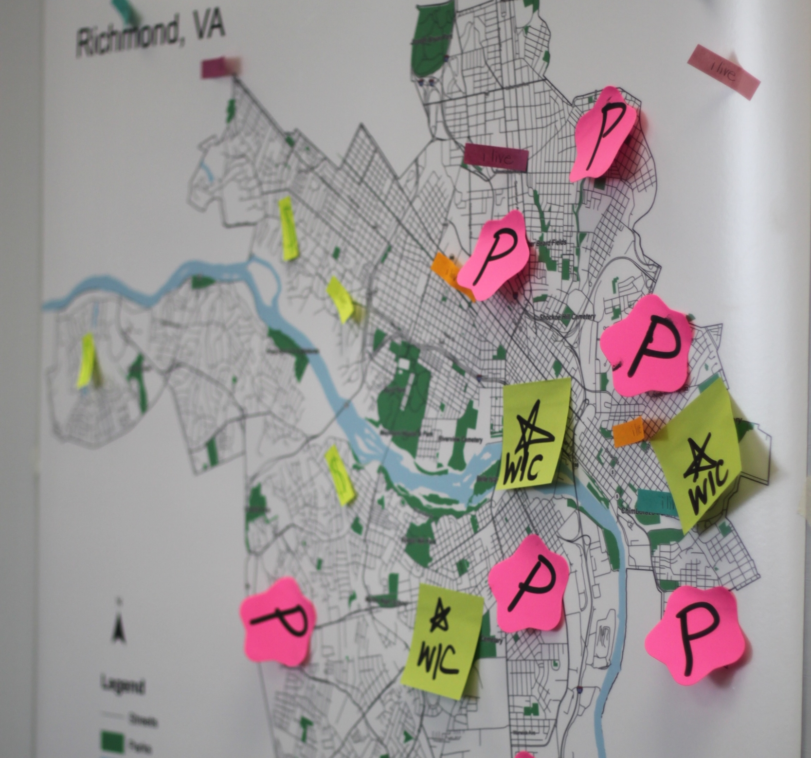 A map of poverty centers in Richmond.
