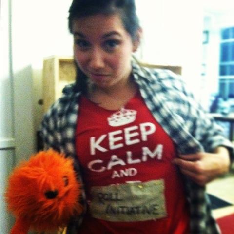 Keep calm and Roll Initative  She Kills Monsters Callbacks  Company One, 2012