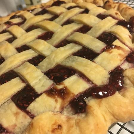 My first from-scratch raspberry pie